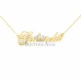 Bijuterii aur galben lanturi cu nume personalizate HANDMADE - GABRIELA