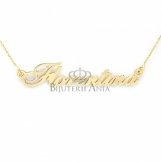Bijuterii aur galben lanturi cu nume personalizate HANDMADE - FLORENTINA