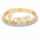 Bijuterii aur galben inel colectie noua model LOVE